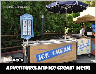 Adventureland Ice Cream Cart at Magic Kingdom #MagicKingdom #DisneyDining
