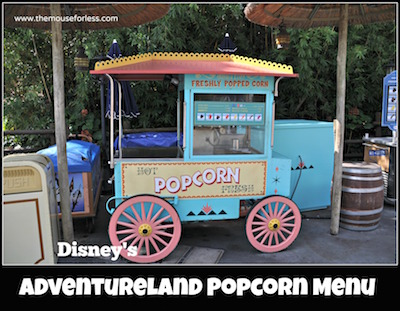 Adventureland Popcorn & Ice Cream Cart at Magic Kingdom #MagicKingdom #DisneyDining