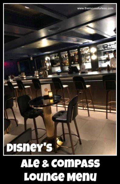 Ale and Compass Lounge Menu