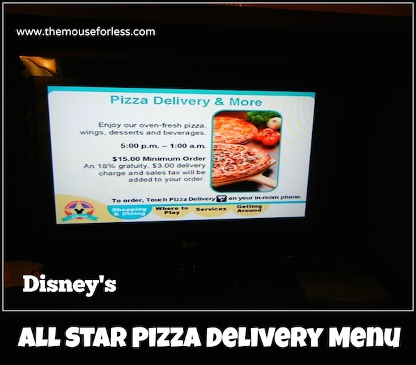 All-Star Pizza Delivery Menu Serving all 3 All-Star Resorts #DisneyDining #All-StarResorts