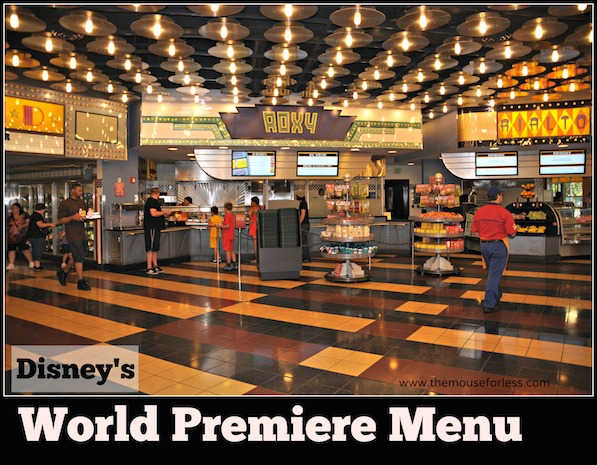 World Premiere Food Court Menu at Disney's All Star Movies Resort #DisneyDining AllStarMovies