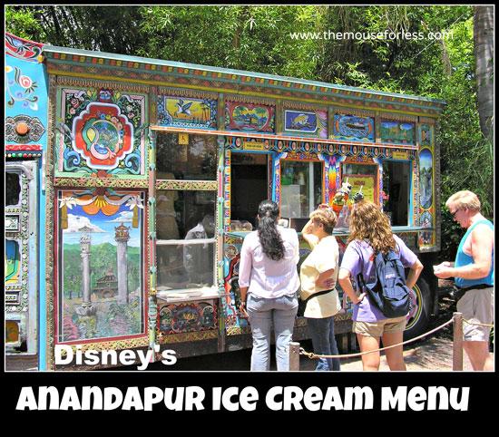 Anandapur Ice Cream Truck Menu at Disney's Animal Kingdom #WaltDisneyWorld