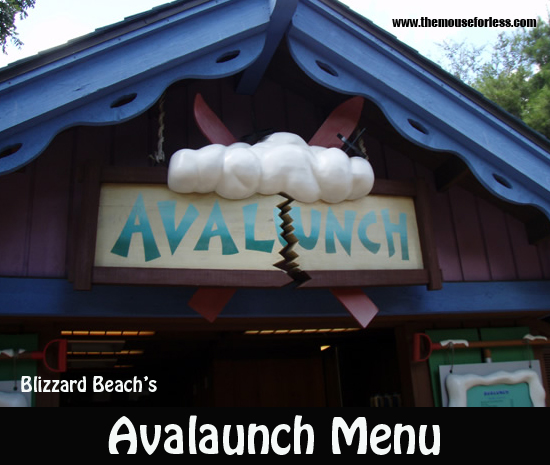 Avalunch Menu
