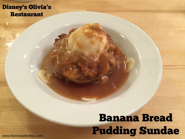 Olivia's Cafe Banana Bread Pudding Sundae