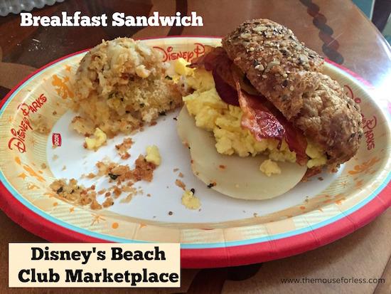 Breakfast Sandwich at Beach Club Marketplace at Disney's Beach Club Resort #DisneyDining #BeachClub