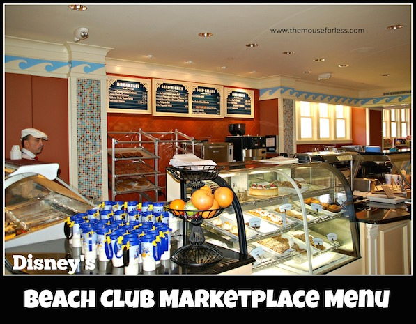 Beach Club Marketplace Menu at Disney's Beach Club Resort #DisneyDining #BeachClub