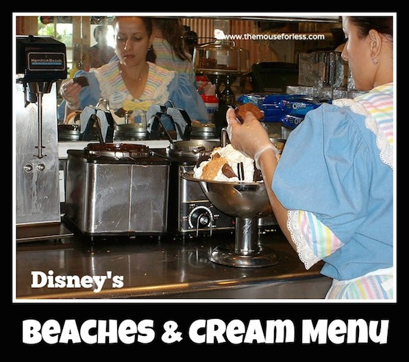 Beaches and Cream Menu at Disney's Beach Club Resort #DisneyDining #BeachClub