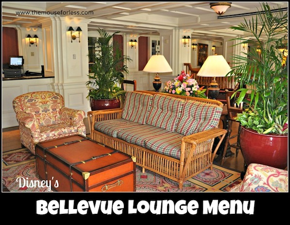 Bellevue Lounge at Disney's Boardwalk Resort #DisneyDining #BoardwalkInn