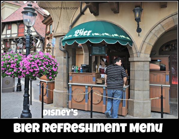 Bier Refreshment Stand at Epcot World Showcase #DisneyDining #Epcot