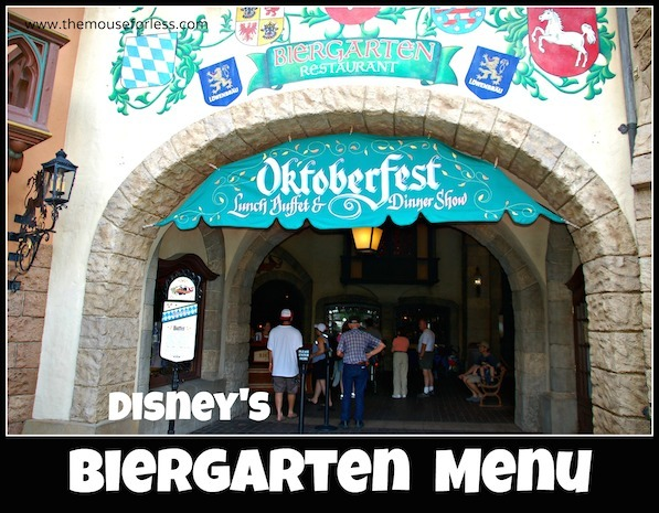 Biergarten Menu at Epcot #DisneyDining #Epcot
