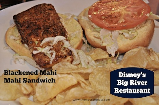 Blackened Mahi Mahi Sandwich from Big River Grille at Disney's BoardWalk Resort #DisneyFood #WaltDisneyWorld
