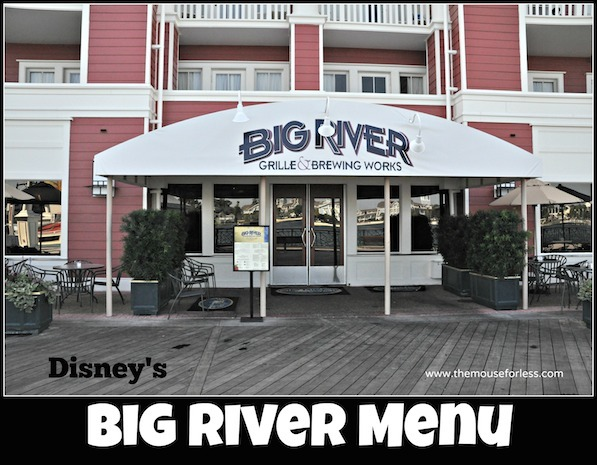 Big River Grille Menu at Disney's BoardWalk Resort #DisneyDining #WaltDisneyWorld