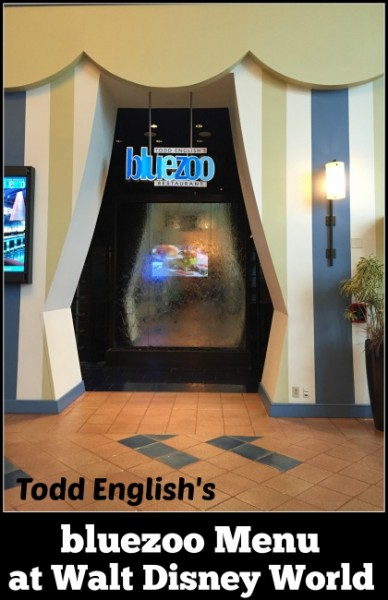 Todd English's bluezoo menu