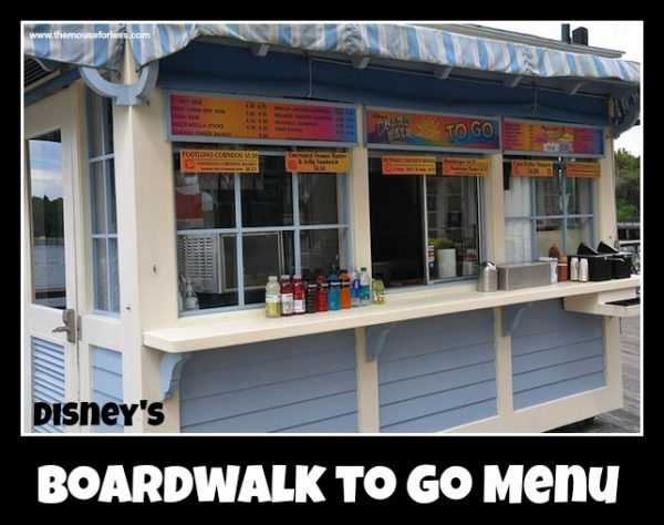Boardwalk to Go Menu