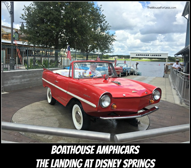 The Landing at Disney Springs Boathouse Amphicars