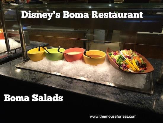 Boma Salads - Disney's Boma Restaurant at Disney's Animal Kingdom Lodge #DisneyDining #WaltDisneyWorld