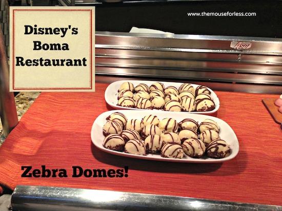 Zebra Domes from Disney's Boma Restaurant at Disney's Disney's Animal Kingdom Lodge #DisneyDining #WaltDisneyWorld #Menu