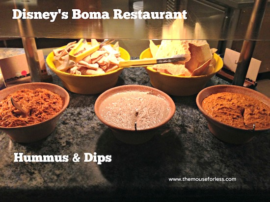 Hummas and Dips found at Disney's Boma Restaurant at at Disney's Animal Kingdom Lodge #DisneyDining #WaltDisneyWorld