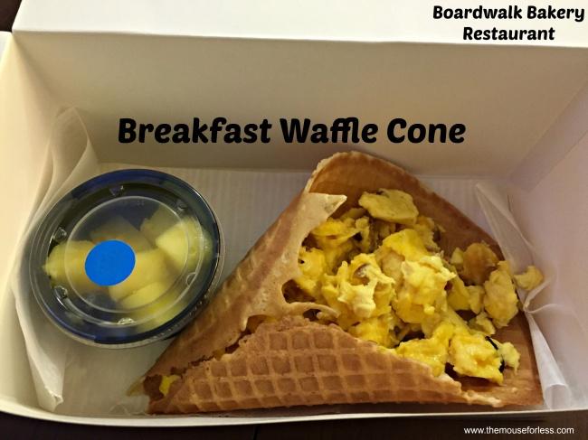 Boardwalk Bakery Breakfast Waffle Cone