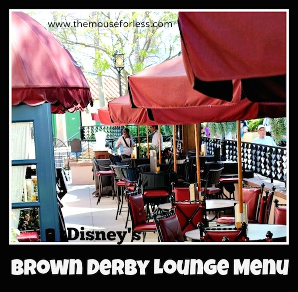 The Hollywood Brown Derby Lounge Menu at Disney's Hollywood Studios #DisneyDining #HollywoodStudios