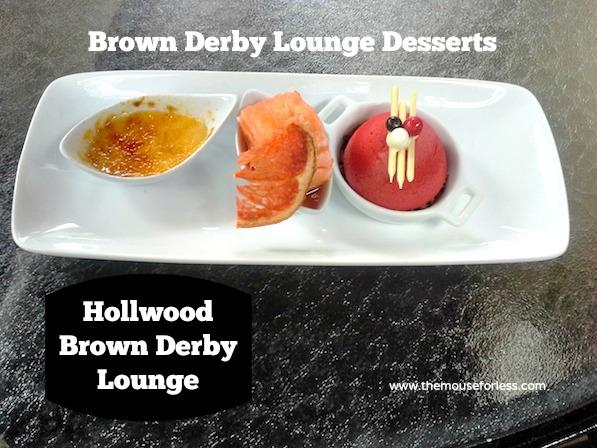 Hollywood Brown Derby Lounge Dessert Trio