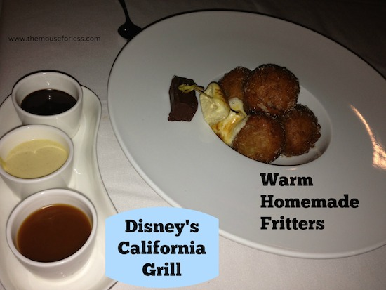 Warm Homemade Fritters from Disney's California Grill Restaurant #ContemporaryResort #WaltDisneyWorld #DisneyFood