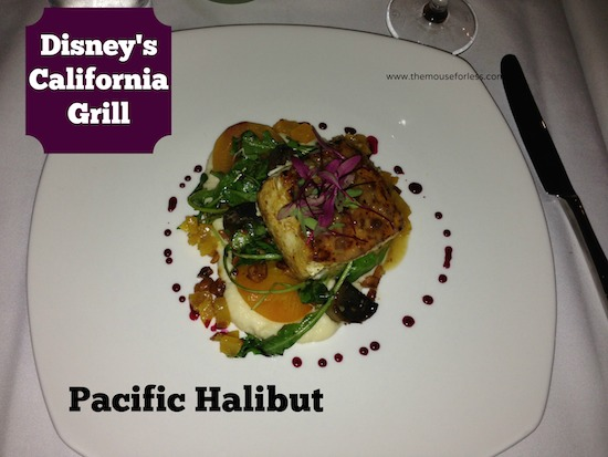 Pacific Halibut from Disney's California Grill Restaurant #ContemporaryResort #DisneyFood #WaltDisneyWorld