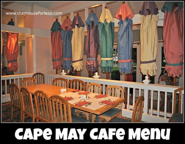 Cape May Cafe Buffet Menu at Beach Club Resort #DisneyDining #BeachClub