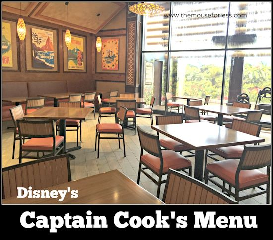 Captain Cook's Menu