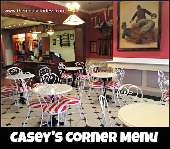 Casey's Corner Menu at the Magic Kingdom #DisneyDining #Magic Kingdom