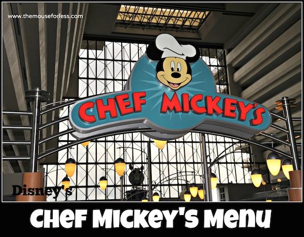 Chef Mickey's Restaurant Menu at Disney's Contemporary Resort #DisneyDining #WaltDisneyWorld