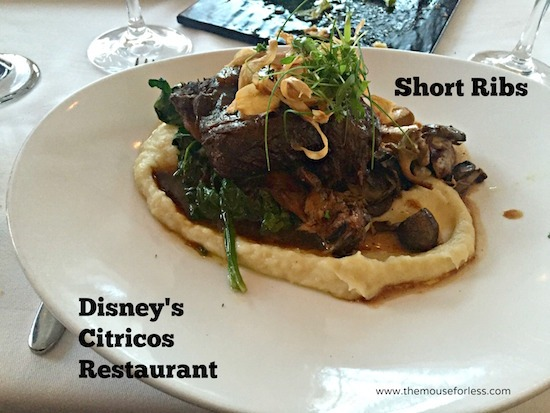 Beef Short Ribs at Citricos at Disney's Grand Floridian #DisneyDining #GrandFloridian