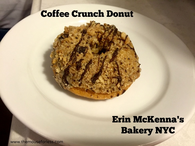 Coffee Crunch Donut at Erin McKenna's Bakery at Disney Springs #DisneyDining #Disney Springs