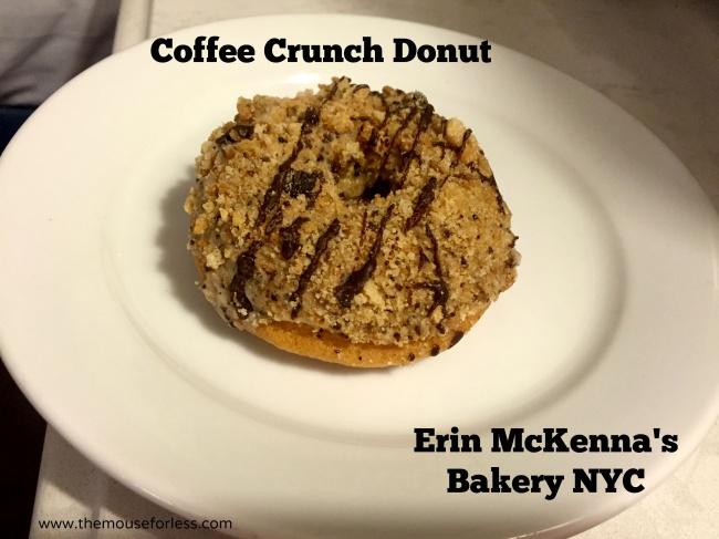 Coffee Crunch Donut at Erin McKenna's Bakery at Disney Springs #DisneyDining #Disney Springs