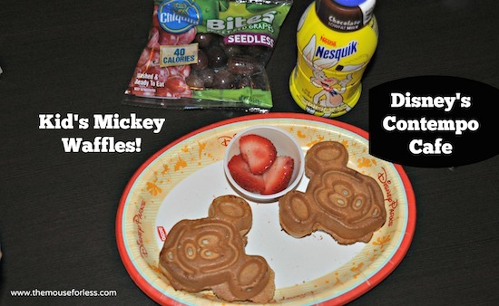 Kids Mickey Waffles from Disney's Contempo Cafe Restaurant at Disney's Contemporary Resort #DisneyDining #WaltDisneyWorld