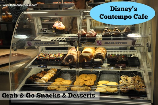 Contempo Cafe Grab and Go Snacks and Desserts from Contempo Cafe at Disney's Contemporary Resort #DisneyFood #WaltDisneyWorld