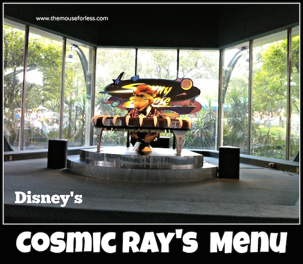 Cosmic Ray's Starlight Cafe Menu at the Magic Kingdom #DisneyDining #MagicKingdom