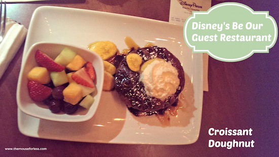 Croissant Doughnut at Be Our Guest Restaurant in the Magic Kingdom #DisneyDining #MagicKingdom