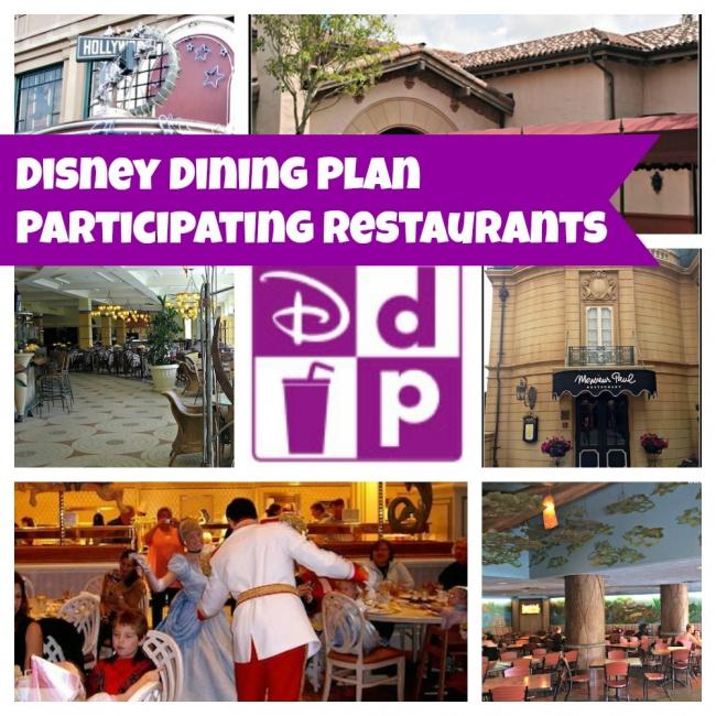 Disney Dining Plan Participating Restaurants For 2018