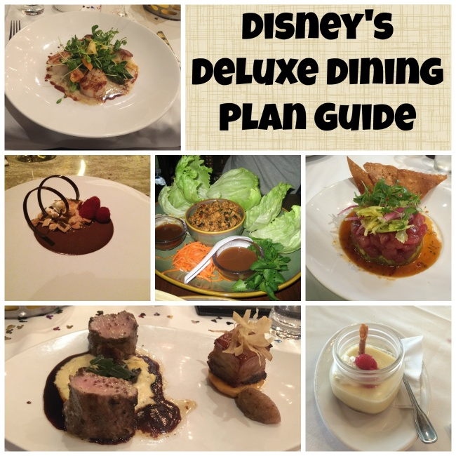 Disney Deluxe Dining Plan Guide