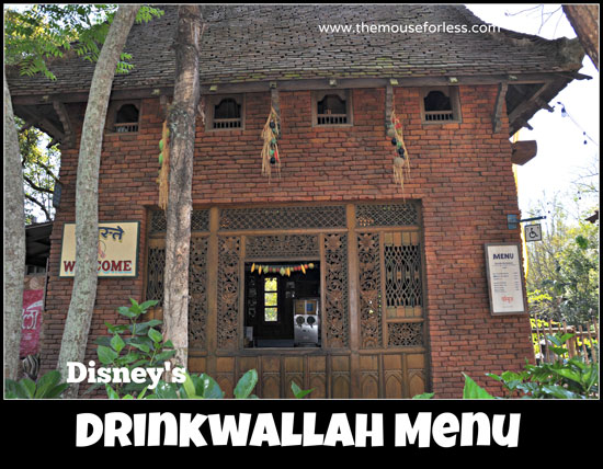 Drinkwallah Frozen Drinks Menu at Disney's Animal Kingdom #WaltDisneyWorld