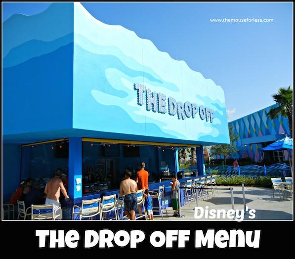 The Drop Off Pool Bar Menu at Disney's Art of Animation Resort #DisneyDining #ArtofAnimation