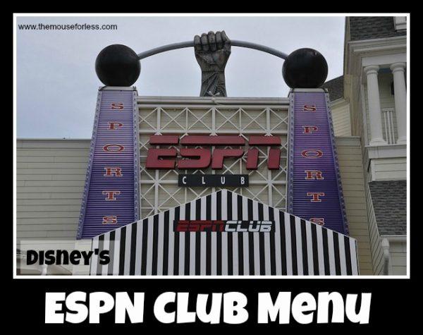 ESPN Club Menu