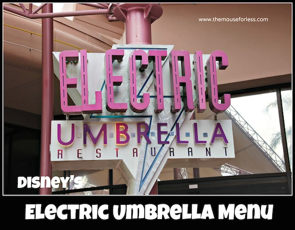 Electric Umbrella Counter Service Menu at Epcot #DisneyDining #Epcot