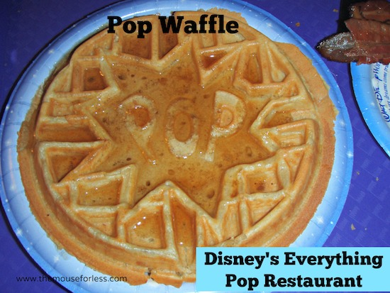 POP Waffle at Everything Pop - Pop Century Food Court Menu #DisneyWorld #PopCentury