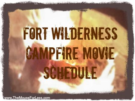 Fort Wilderness Campfire Movie Schedule