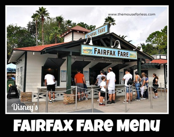 Fairfax Fare Menu at Disney's Hollywood Studios #DisneyDining #HollywoodStudios