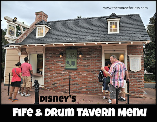 Fife and Drum Tavern Menu
