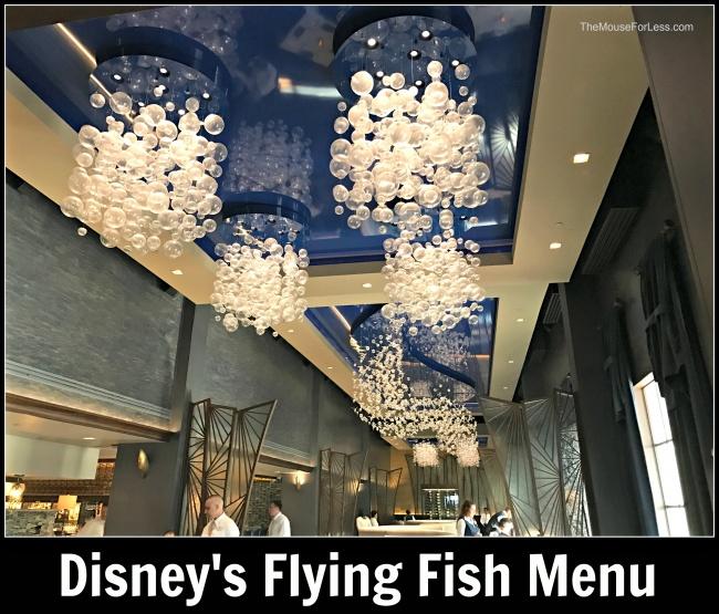 Flying Fish Cafe Menu