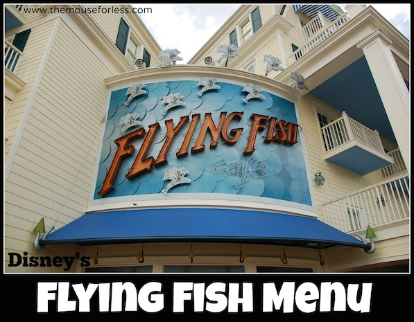 Flying fish caf menu for Flying fish cafe disney